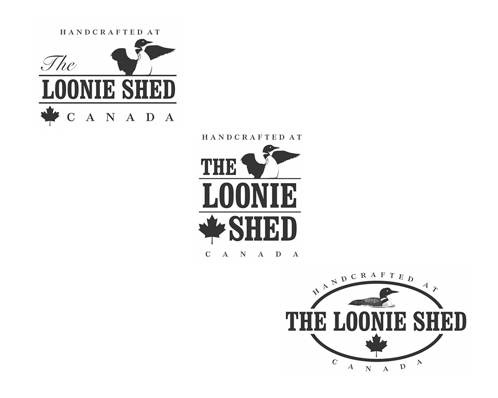 Loonie Shed Logo Options