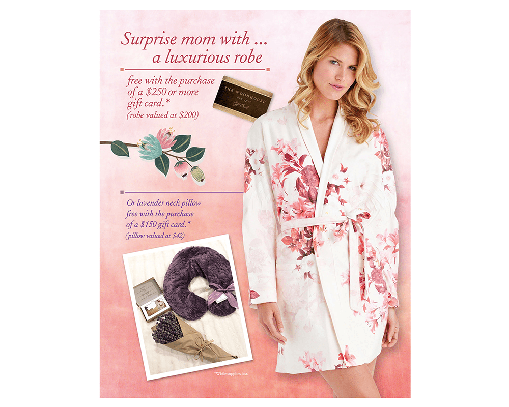 The Woodhouse Day Spa Buffalo Robe/Wrap Promotion